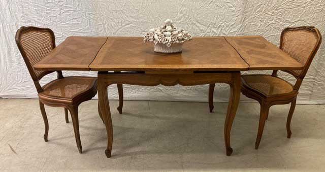 Small French Oak Extension Dining Table Image